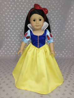 Disney Princess Snow White Dress outfit for American Girl Doll