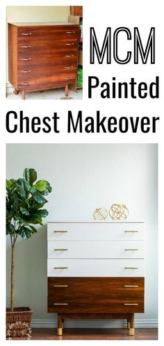 to Paint Mid Century Modern Furniture Video tutorial on how to update a mid-century modern chest of drawers using Fusion Mineral Paint.Video tutorial on how to update a mid-century modern chest of drawers using Fusion Mineral Paint. Mcm Furniture, Diy Furniture Projects, Repurposed Furniture, Furniture Makeover, Painted Furniture, Furniture Design, Bedroom Furniture, Furniture Stores, Diy Furniture Upcycle