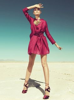 Maryna Linchuk by Paola Kudacki for <em>Harpers Bazaar US</em> September 2011
