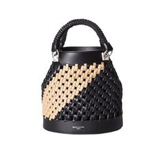 Sonia Rykiel Stranded Leather Bucket Bag ($1,990) ❤ liked on Polyvore featuring bags, handbags, shoulder bags, multicolor, 100 leather handbags, multi color leather handbags, leather purse, colorful handbags and leather bags