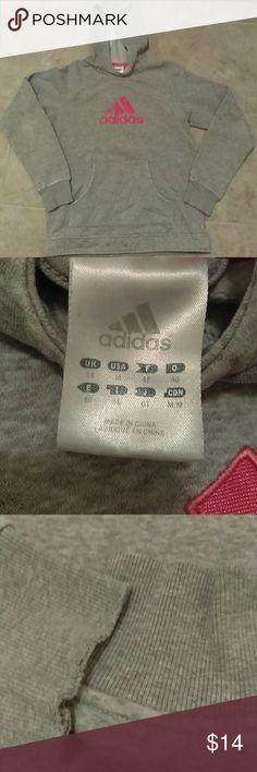 Adidas hoodie Grey hoodie pink logo Adidas Tops Sweatshirts & Hoodies