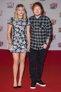 Louane et Ed Sheeran aux NRJ Music Awards 2015