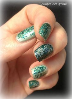layered #stamping # holo # flowers