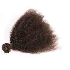 Tissage brésilien afro curl châtain foncé