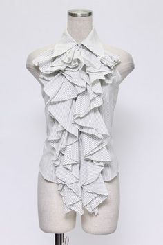 alice auaa / Halter ruffle blouse (cuffs) - closet child online shop