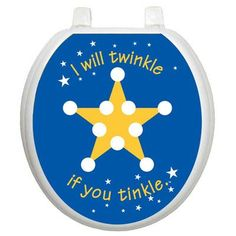 Toilet Tattoos Toilet Training Twinkle Star Toilet Seat Decal Size: Round