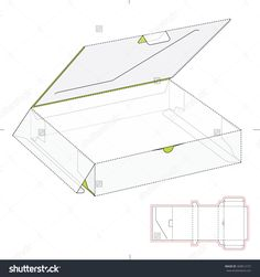 Retail Box With Die Cut Template Stock Vector Illustration 368812157 : Shutterstock