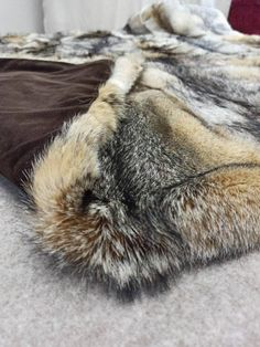 Shades Of Gold, Color Shades, Fur Rug, Grey Fox, Faux Fur Blanket, Fur Accessories, Fur Throw, Comfy Bed, Blanket Sizes