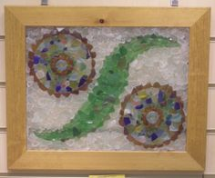 Beach Glass Art   Sea On Glass (sea beach glass jewellery art camper vans mosaics combe ...