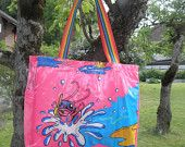 Badetasche BT5 Upcycle, Reusable Tote Bags, Etsy, Vintage, Craft Gifts, Taschen, Jewlery, Upcycling, Upcycled Crafts