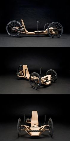 Rennholz - a wooden tricycle drived by electric tools - I could place this in so many of my boards!!!