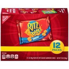 (2 Pack) Ritz bits cheese cracker sandwiches snack packs, 12.0 oz Ritz Bits, Ritz Crackers, Butter Crackers, Bad Room Ideas, Bite Size Snacks, Sandwiches, Easy Snacks, Toddler Snacks, Healthy Snacks