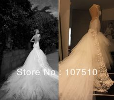 MW8191  Blackless Lace Mermaid Wedding Dress with Train