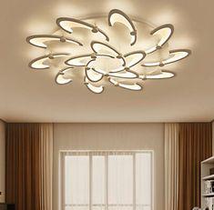 Dimmer Modern LED round crystal Chandeliers living room Dining Room ceiling lamp  | eBay Led Ceiling Lights, Ceiling Lamp, Round Crystal Chandelier, Flush Mount Lighting, Bedroom Decor, Bulb, Living Room, Crystals, Modern
