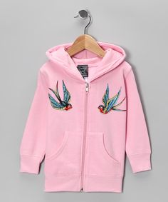 Take a look at this Pink Sparrow Zip-Up Hoodie - Infant, Toddler & Girls on zulily today!