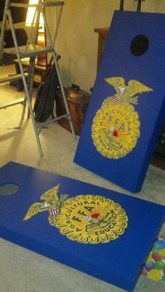 Hand painted FFA Cornhole boards for local school auction