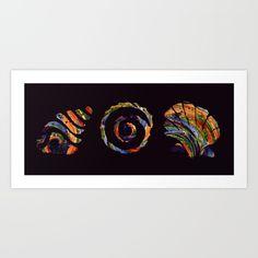 Deep Sea Shell Trio - $18