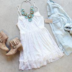 Coyote Sky Dress, Sweet Bohemian Lace Dresses from Spool No.72. | Spool No.72