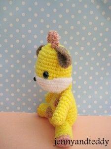 crochet toy: giraffe crochet amigurumi free pattern