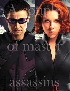couple of master of  assassins    http://justfeelingsofaboy.tumblr.com/post/20504649968/weve-got-a-couple-of-master-assassins-tony