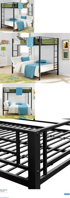 Kids Furniture: Bunk Beds On Sale Kids Full Size Over Double Bedroom Loft Furniture Space Saver BUY IT NOW ONLY: $259.95 #priceabateKidsFurniture OR #priceabate
