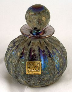 Romanesque small perfume bottle - Isle of WIght Art Glass