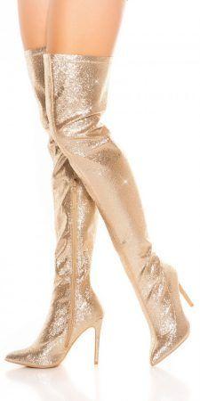Arany csillámos alkalmi női csizma 37-es - AdryFashion női ruha webáruház b8558edd33