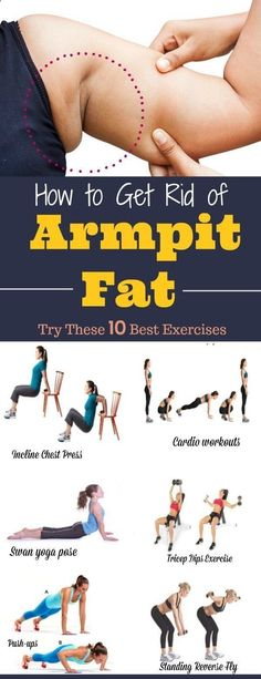 Best Exercises To Lose Arm Fat In Two Weeks How to Get Rid of Armpit Fat.Try These 10 Best Exercises. These best workouts that can help to get rid of armpit fat. These exercises are effective armpit fat removal and will help on how to lose flabby arms. Weight Loss Challenge, Weight Loss Plans, Weight Loss Tips, Weight Gain, Losing Weight, Body Weight, Reduce Weight, Fitness Workouts, Fun Workouts
