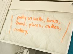 """Poets & Writers Toolkit: Paper.  """"Paper has a geography, and it affects our creative actions."""" - L. L. Barkat. Graph paper, paper bags, post-its - try them all and change your creative geography"""