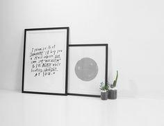 The Minimalist x Blacklist 'Nice View' print + screen printed silver Dot artwork.