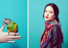 Look Book   Yaelle  parrot fashion shoot, silk scarves  www.yaelle.co.uk