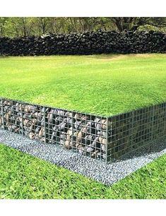 12 Gorgeous Gabion Ideas For Backyards - Container Water Gardens - Modern Design Patio Pond, Backyard Fences, Backyard Landscaping, Gabion Retaining Wall, Landscaping Retaining Walls, Gabion Fence Ideas, Fence Design, Garden Design, Gabion Wall Design