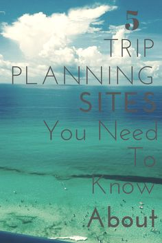 Top 5 Travel Planning Websites - A Modern Girl's Travels There are several sites out there to help you plan your trips. However, i have narrowed it down to my top 5 travel planning websites. Travel Info, Travel Advice, Travel Goals, Time Travel, Travel Tips, Travel Hacks, Travelling Tips, Oh The Places You'll Go, Places To Travel