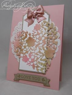 Angela Lorenz: Sneak Peek Stampin Up's Occasions 2016 - Bloomin Heart thinlits and coordinating Bloomin Love stamp set