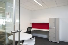 Modular Private office with Height Adjustable Desk.