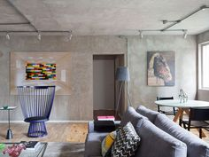 Soft Industrial And Masculine Style Apartment | 2015 interior ...