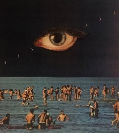 Something is out there 👽☯️✌ - (not my Art) dadaism surrealism art aesthetic lsdart lsdtrip acid drug universe humans sea eye psychedelic Art Inspo, Kunst Inspo, Inspiration Art, Art Du Collage, Surreal Collage, Surreal Art, Collages, Dream Collage, Arte Peculiar