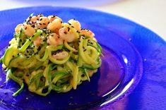 Ricetta Light: spaghetti di zucchine cremosi al curry e gamberetti - Vita su Marte Healthy Meals For Two, Good Healthy Recipes, Unique Recipes, Veggie Recipes, Healthy Eating, Cooking For One, Easy Cooking, Cooking Time, Cooking Recipes