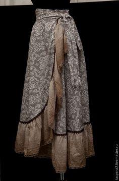 Купить Юбка на запах в стиле бохо - юбкаюбка с запахом, на запах, юбка передник, полусолнце, бохо