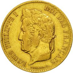 ➽ Ask us to find it for you : Coin France Louis-Philippe 40 Francs 1836 Paris Gold Gold Bullion Bars, French Coins, Gold Money, French History, World Coins, France, Paris, Coin Collecting, Personalized Items