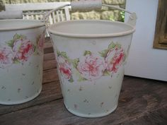 Shabby Chic buckets by RubyRed06, via Flickr