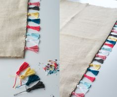 DIY tassels and how to sew them to things. I'd love to make a table runner like this.