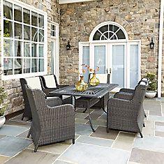 Largo 7-Piece Patio Dining Set with Riviera Chairs