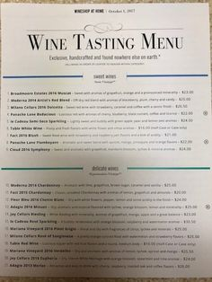 In case you missed my wine tasting last night, here is a copy of the tasting menu. I will be finalizing orders at 8:00 pm central,  so please let me know if you would like to make a purchase.   http://wsah.life/xwfh5
