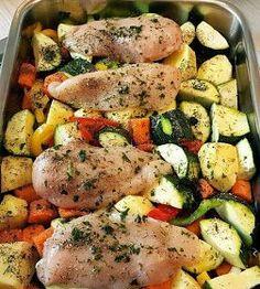 ΜΑΓΕΙΡΙΚΗ ΚΑΙ ΣΥΝΤΑΓΕΣ: Κοτόπουλο στηθος φιλέτο με λαχανικά !!!
