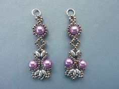 FREE beading pattern: Lotus Lace Earrings #Seed #Bead #Tutorials