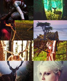 Artemis is the Hellenic goddess of the hunt, wild animals, wilderness, and childbirth and is the paragon of purity and the protector of young girls. She is depicted as a huntress carrying a bow and arrows. The deer and the cypress tree are sacred to her.