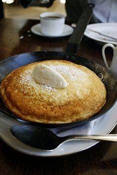 Lemon ricotta soufflé pancake at Blue Duck Tavern on Bitches Who Brunch {www.BitchesWhoBrunch.com}