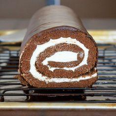 Chocolate Cream Swiss Roll
