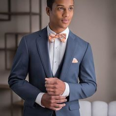 Blue always makes for an alluring option. Blue Weddings, Tuxedos, Wedding Suits, Mens Suits, Groom, Suit Jacket, Celebrities, Instagram Posts, Fashion